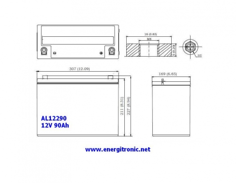BATERIA AGM AL12290