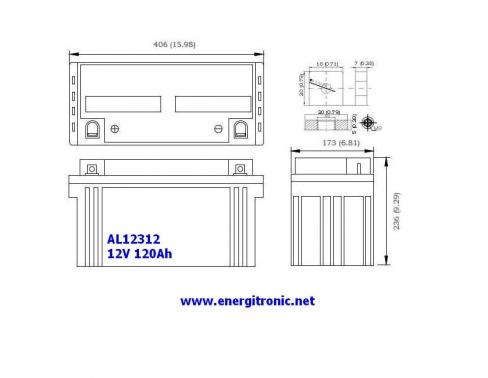 BATERIA AGM AL12312