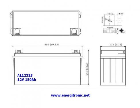 BATERIA AGM AL12315
