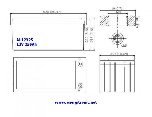 BATERIA AGM AL12325