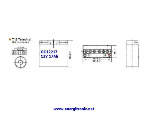 BATERIA GEL GC12217