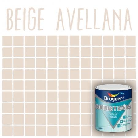 Esmalte de azulejos bruguer beige avellana tu tienda de - Pintura color vainilla ...