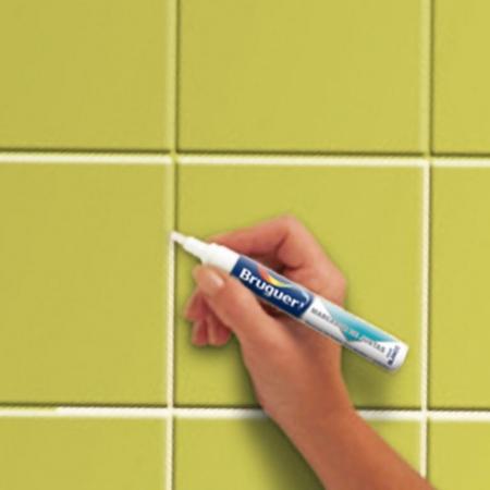 Marcador de juntas bruguer blanco tu tienda de pintura online - Juntas azulejos ...