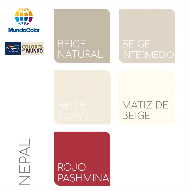 Colores del mundo bruguer nepal tu tienda de pintura online - Pintura barata online ...