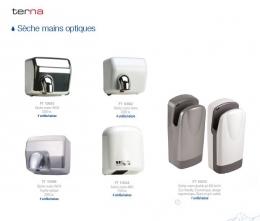 Sèche-mains électriques. Sèche-mains Jet séchage ultra rapide. 300 km/h.