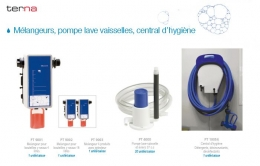 Pompe L.V. Systèmes de dilution. Centrales dhygiène.