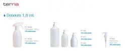 Doseurs 1,8 ml. Gels et lotions de 300 à 500 cc.