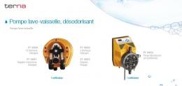 Pompes pour lave-vaisselle et diffuseurs électriques.