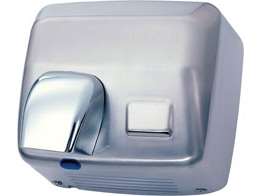 Sensor activated hand dryer. Stainless steel. 360º...