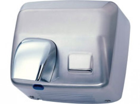 Sensor activated hand dryer. Stainless steel. 360º revolving nozzle 2500w