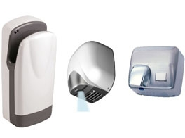 VERY FAST SENSOR ACTIVATED HAND DRYERS