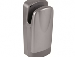 Hand dryer double jet Satin grey. Very fast drying...