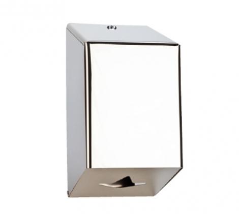 Stainless steel centerfeed paper dispenser