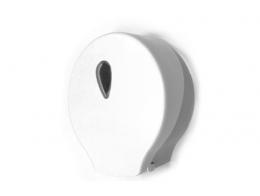 Toilet roll dispenser ABS white / grey