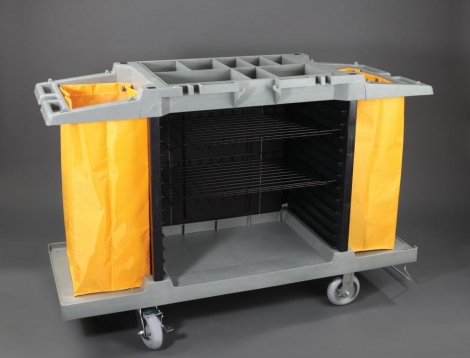 Multi-function trolley complete with three grid trays