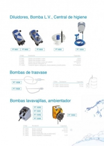 Diluidores, bombas L.V., de trasvase y central de higiene
