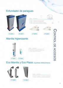 Enfundador de paraguas, manillas y eco placa