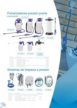 Sistemas de limpieza a presión y pulverizadores presión previa