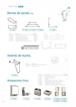 Barras de ayuda, asiento de ducha y accesorios
