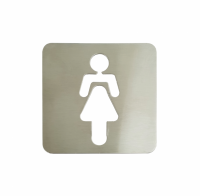 Pictograma aseos mujer (120x120 mm)