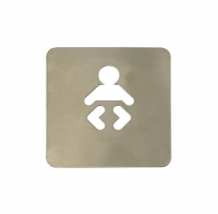 Pictograma aseos cambiador bebe (120x120 mm)