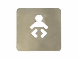 Pictograma WC trocador de bebê (120x120 mm)