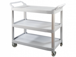 Plastic trolley with three trays