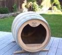 Caseta para mascota barril