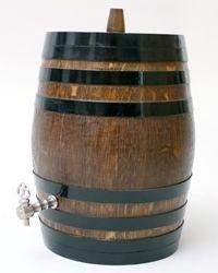 Tonnelet chêne 8 litres, support
