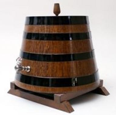 "Tonnelet chêne 8 litres, support bas ""CONO"""