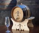 Weinfass 4 Liter mit Untergestell, Metallener Hahn...