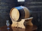 Weinfass 16 Liter mit Untergestell, Metallener...
