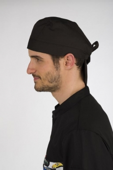 gorro cocina pirata negro