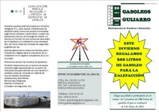 ESTE INVIERNO REGALAMOS 600 LITROS DE GASOIL