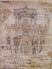 Cuadro lamina impresa, retablo iglesia.