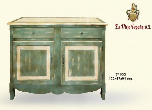 Mueble dm pintado a mano nombre de la empresa - Muebles pintados en plata ...