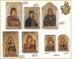 Iconos bizantinos pintados a mano