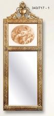 Espejo diptico moldura artesanal, Alegoría...