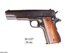Colt .45 Government,1911, negra, cachas de madera