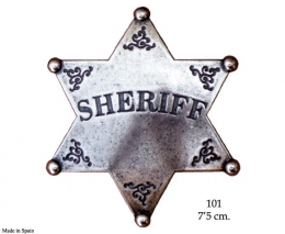 Estrella sheriff 6 puntas