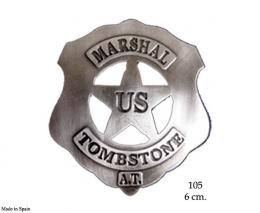 Placa U.S. Marshal Tombstone