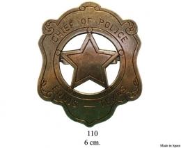 Placa de Jefe de Policía.