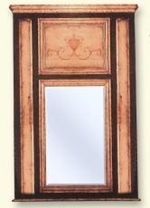 Espejo madera decorado.