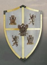 Escudos en madera, cuero , metal