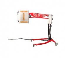 Infrarrojo para el secado con brazo basculante y  medidor de distancia