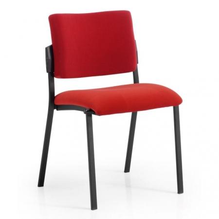 Silla fija sin brazos con asiento y respaldo tapizado mod. Square-801