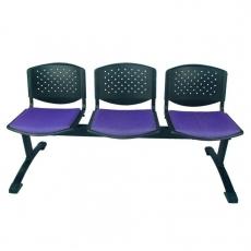 Bancada con respaldo tapizado y asiento de polipropileno Azar