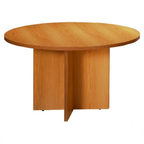 Mesa de juntas redonda con base en aspa