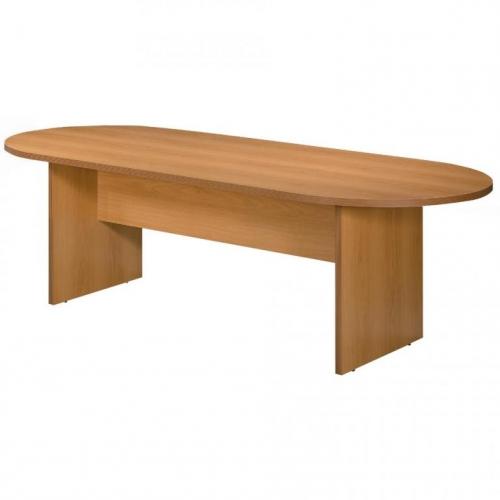 Mesa de juntas ovalada con base en H