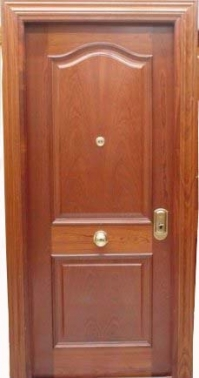 Puerta blindada provenzal biselada en sapelly rameado for Puertas sapelly